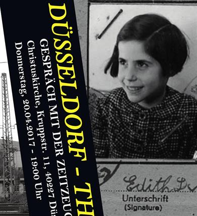 The contemporary witness Edith Bader-Devries as child.