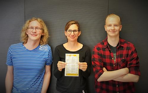 Prof. Dr. Michaela Hopf with students from University of Applied Science