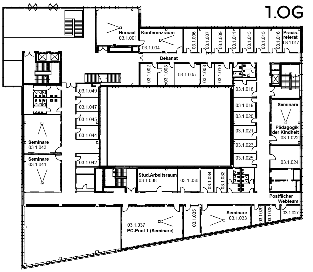 Plant layout Building 3 first floor